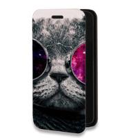 Дизайнерский горизонтальный чехол-книжка для LG X cam Животные