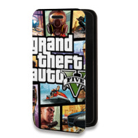 Дизайнерский горизонтальный чехол-книжка для Iphone 5s Игры