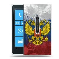 Дизайнерский пластиковый чехол для Nokia Lumia 920 Флаги и гербы