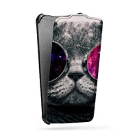 Дизайнерский вертикальный чехол-книжка для HTC One (M7) Dual SIM Животные