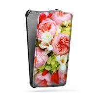 Дизайнерский вертикальный чехол-книжка для Nokia Lumia 630/635 Цветы