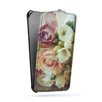 Дизайнерский вертикальный чехол-книжка для HTC One (M7) Dual SIM Цветы