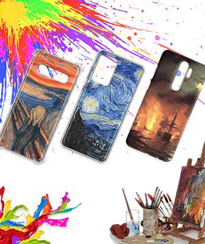 Дизайнерский силиконовый чехол для Micromax Canvas Spark Живопись