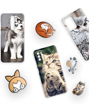 Дизайнерский силиконовый чехол для Alcatel Pixi 4 (5) Животные