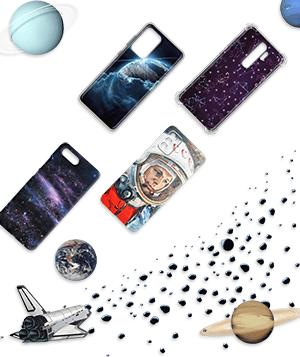 Дизайнерский силиконовый чехол для LG K10 (2017) Космос