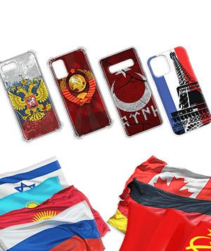 Дизайнерский силиконовый чехол для Micromax Canvas Spark Флаги и гербы