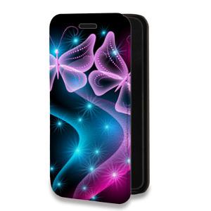 Дизайнерский горизонтальный чехол-книжка для Samsung Galaxy S7 Edge Абстракции