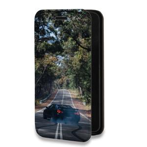 Дизайнерский горизонтальный чехол-книжка для ASUS Zenfone 5 Автомобили