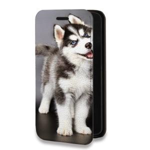 Дизайнерский горизонтальный чехол-книжка для Huawei Y6II Животные