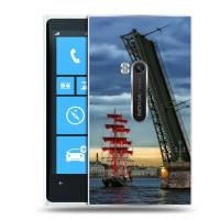 Дизайнерский пластиковый чехол для Nokia Lumia 920 Города