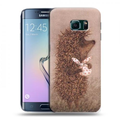 Дизайнерский пластиковый чехол для Samsung Galaxy S6 Edge Креатив дизайн