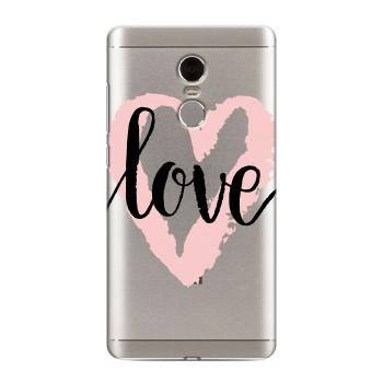 Полупрозрачный дизайнерский пластиковый чехол для Xiaomi RedMi Note 4 Прозрачные сердечки (на заказ)