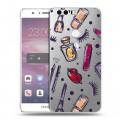 Полупрозрачный дизайнерский пластиковый чехол для Huawei Honor 8 Абстракции 2 (на заказ)