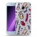 Полупрозрачный дизайнерский силиконовый чехол для Samsung Galaxy A5 (2017) Абстракции 2 (на заказ)