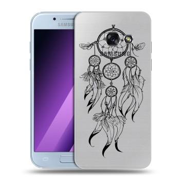 Полупрозрачный дизайнерский силиконовый чехол для Samsung Galaxy A5 (2017) Прозрачные ловцы снов (на заказ)