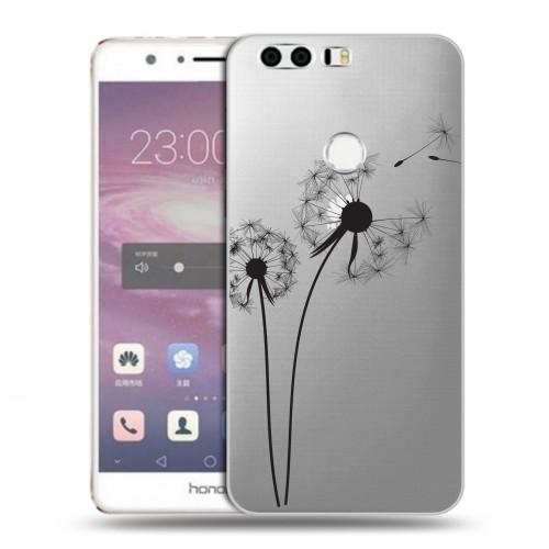 Полупрозрачный дизайнерский пластиковый чехол для Huawei Honor 8 Прозрачные принты (на заказ)