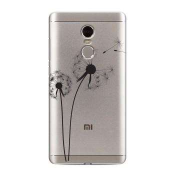 Полупрозрачный дизайнерский пластиковый чехол для Xiaomi RedMi Note 4 Прозрачные принты (на заказ)
