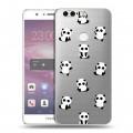 Полупрозрачный дизайнерский пластиковый чехол для Huawei Honor 8 Прозрачные панды  (на заказ)