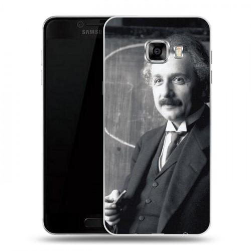 Дизайнерский пластиковый чехол для Samsung Galaxy C5 Альберт Эйнштейн