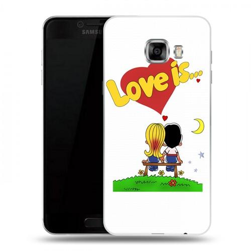 Дизайнерский пластиковый чехол для Samsung Galaxy C5 любовь это...