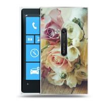 Дизайнерский пластиковый чехол для Nokia Lumia 920 Цветы