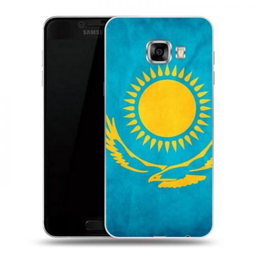 Дизайнерский пластиковый чехол для Samsung Galaxy C5 Флаг Казахстана