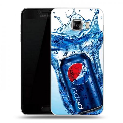 Дизайнерский пластиковый чехол для Samsung Galaxy C5 Pepsi