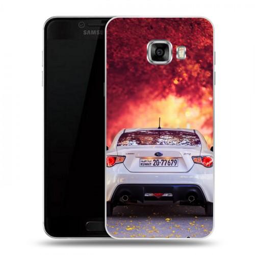 Дизайнерский пластиковый чехол для Samsung Galaxy C5 Subaru