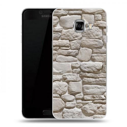 Дизайнерский пластиковый чехол для Samsung Galaxy C5 Текстура камня