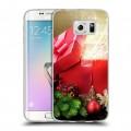 Дизайнерский пластиковый чехол для Samsung Galaxy S6 Edge Новогодняя хвоя