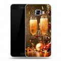 Дизайнерский пластиковый чехол для Samsung Galaxy C5 Новогодние бокалы