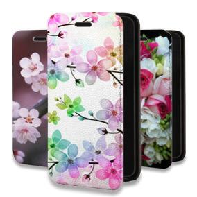 Дизайнерский горизонтальный чехол-книжка для Huawei Honor 7C Pro Цветы