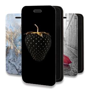 Дизайнерский горизонтальный чехол-книжка для Huawei Honor 30S Креативные