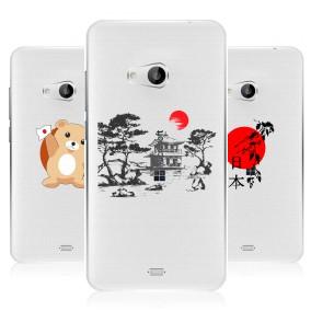 Дизайнерский пластиковый чехол для Microsoft Lumia 540 Прозрачная япония