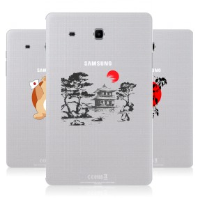 Дизайнерский силиконовый чехол для Samsung Galaxy Tab E 9.6 Прозрачная япония