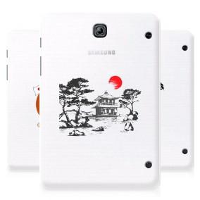 Дизайнерский силиконовый чехол для Samsung Galaxy Tab S2 8.0 Прозрачная япония