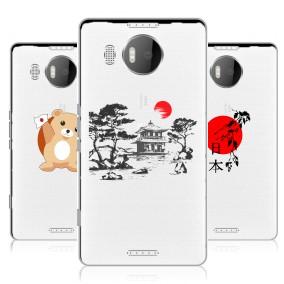 Дизайнерский силиконовый чехол для Microsoft Lumia 950 XL Прозрачная япония