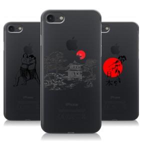 Дизайнерский силиконовый чехол для Iphone 7 Прозрачная япония