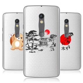 Дизайнерский пластиковый чехол для Lenovo Moto X Play Прозрачная япония