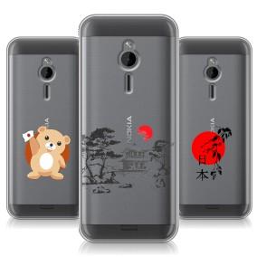 Дизайнерский силиконовый чехол для Nokia 230 Прозрачная япония