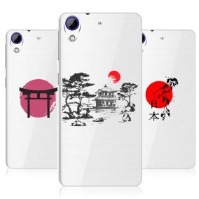 Дизайнерский силиконовый чехол для HTC Desire 830 Прозрачная япония