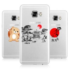 Дизайнерский силиконовый чехол для Samsung Galaxy C5 Прозрачная япония