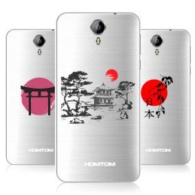 Дизайнерский силиконовый чехол для Homtom HT3 Прозрачная япония