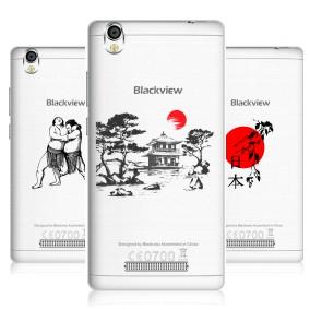Дизайнерский пластиковый чехол для Blackview A8 Прозрачная япония