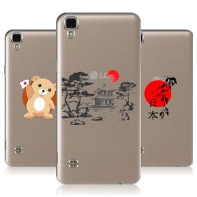 Дизайнерский силиконовый чехол для LG X Style Прозрачная япония