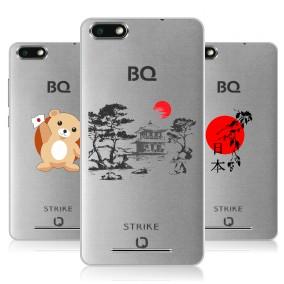 Дизайнерский силиконовый чехол для BQ Strike Прозрачная япония