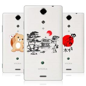 Дизайнерский пластиковый чехол для Sony Xperia TX Прозрачная япония