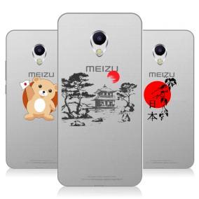 Дизайнерский силиконовый чехол для Meizu M5s Прозрачная япония