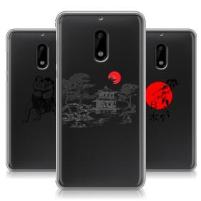 Дизайнерский силиконовый чехол для Nokia 6 Прозрачная япония