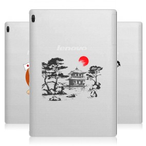 Дизайнерский силиконовый чехол для Lenovo Tab 4 10 Прозрачная япония